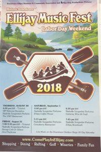 Inaugural Ellijay Music Fest – Labor Day Weekend!