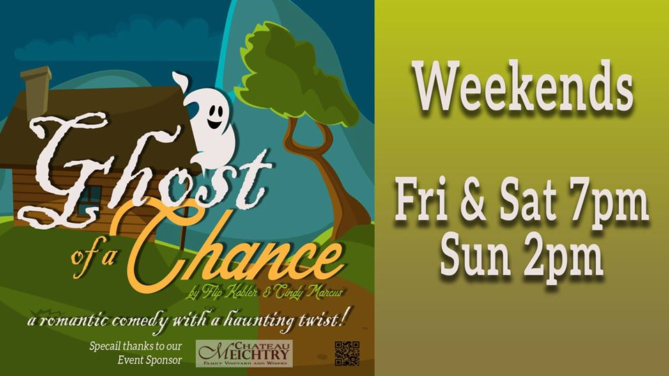 """""""Ghost of a Chance"""" is now playing at Gilmer Arts Playhouse through 10/20"""