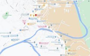 map of downtown ellijay, ga
